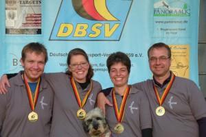 Feldbogen Team von Schilling 2014 Volker, Daniela, Ute und Hubbertus